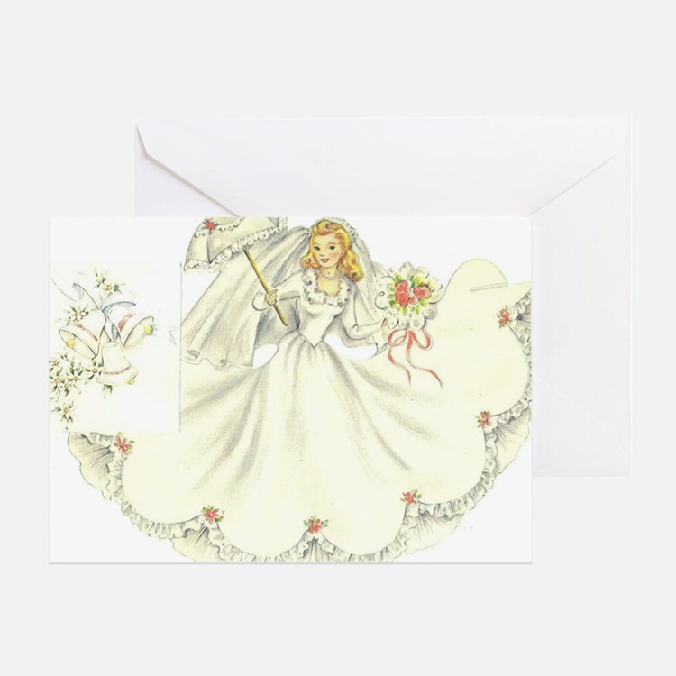 vintage bride picture Greeting Card
