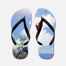 chicago lakeshore bears_SQ Flip Flops