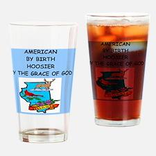 HOOSIER Drinking Glass