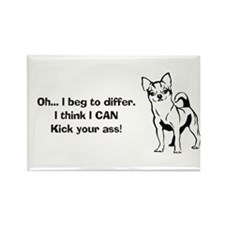 Chihuahuas Kick Butt Rectangle Magnet (10 pack)