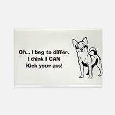 Chihuahuas Kick Butt Rectangle Magnet (100 pack)