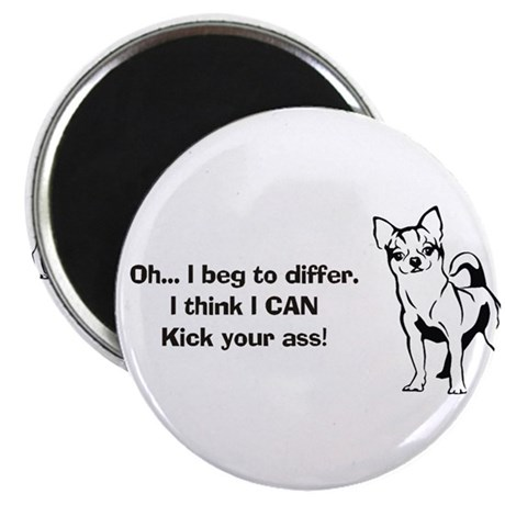 "Chihuahuas Kick Butt 2.25"" Magnet (100 pack)"
