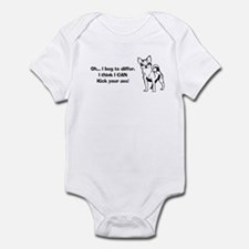 Chihuahuas Kick Butt Infant Bodysuit