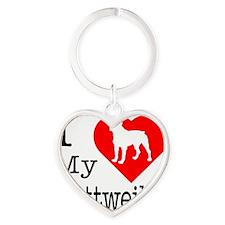 Rottweiler Heart Keychain