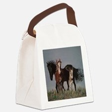 Wild Horses Pillow Canvas Lunch Bag