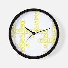 Sheridan Scrabble Wall Clock