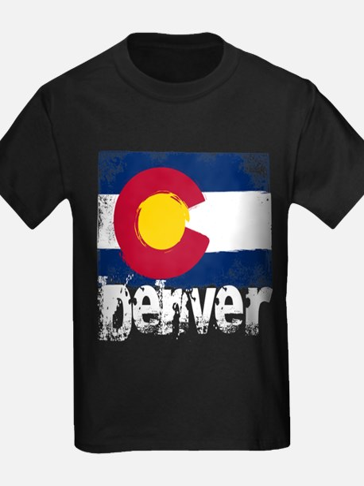 Denver Grunge Flag T