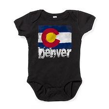 Denver Grunge Flag Baby Bodysuit