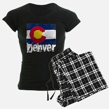Denver Grunge Flag Pajamas