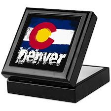 Denver Grunge Flag Keepsake Box