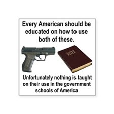 "EVERY AMERICAN SHOULD BE TA Square Sticker 3"" x 3"""