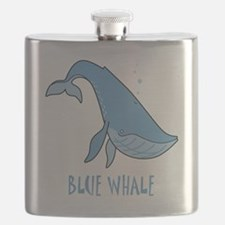Blue Whale Shirt 10x10 FRONT Flask