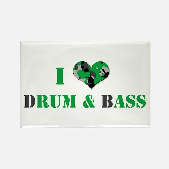 I Love dRum & bAss Rectangle Magnet