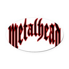 metalhead red logo FINAL Oval Car Magnet