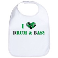 I Love dRum & bAss Bib