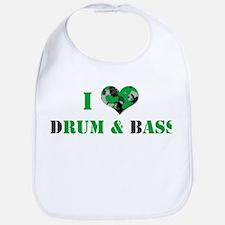I Love dRum & bAss Bib