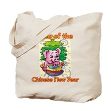 Chinese New Year Year of the Pig Tote Bag