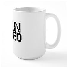 Train Naked Shirt 10x10 Black Mug