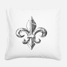 fleur de lis Square Canvas Pillow