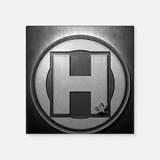"H Steel Square Sticker 3"" x 3"""