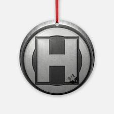 H Steel Round Ornament