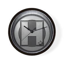H Steel Wall Clock