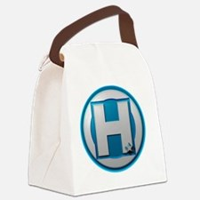 H Blue Canvas Lunch Bag
