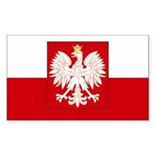 Poland w/ coat of arms Rectangle Decal
