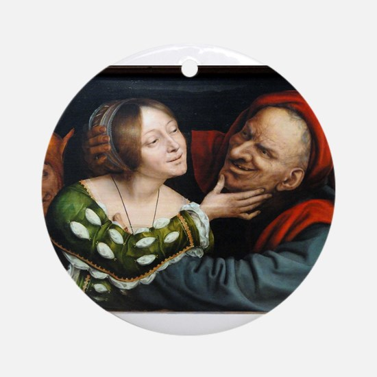 Ill-Matched Lovers - Quinten Massys - c 1520 Round