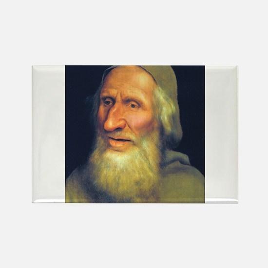 Head of an Old Man- Quinten Massys - c 1525 Magnet