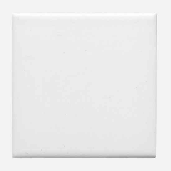 Project H White Tile Coaster