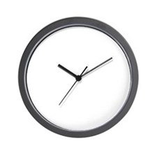 Project H White Wall Clock