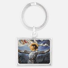 Joan_of_Arc_Prov_fin_slightly b Landscape Keychain