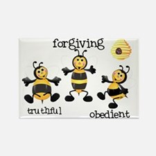 Bee T-Shirt forgiving Rectangle Magnet