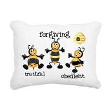 Bee T-Shirt forgiving Rectangular Canvas Pillow