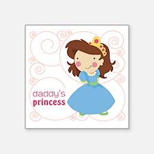 "daddys princess Square Sticker 3"" x 3"""