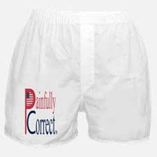 P  C, sm flag, on wht,5d,blue5-copy,2 Boxer Shorts