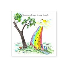 "rainbow bridge 2 final Square Sticker 3"" x 3"""