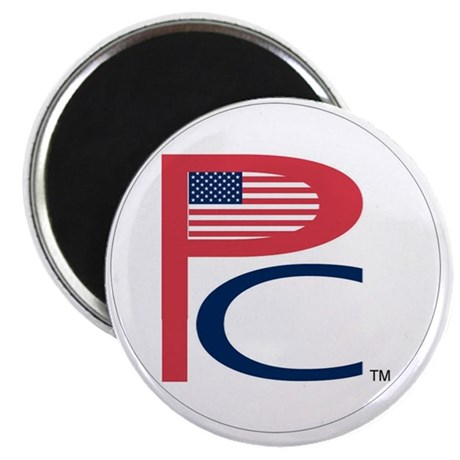 P C, sm flag, on wht,7 copy-copy,6b Magnet