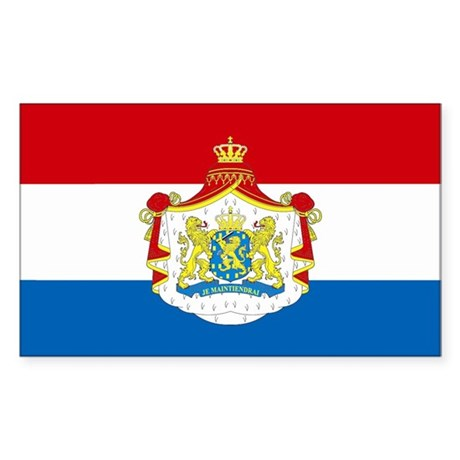 Netherlands w/ coat of arms Rectangle Sticker