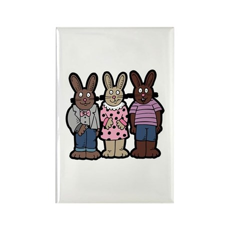 Chocolate Easter Bunnies Rectangle Magnet (100 pac