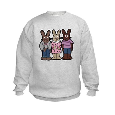 Chocolate Easter Bunnies Kids Sweatshirt