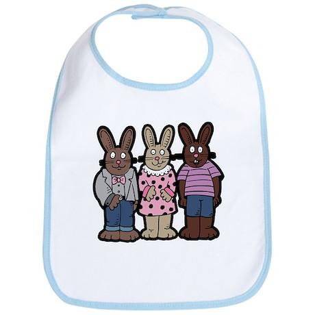 Chocolate Easter Bunnies Bib