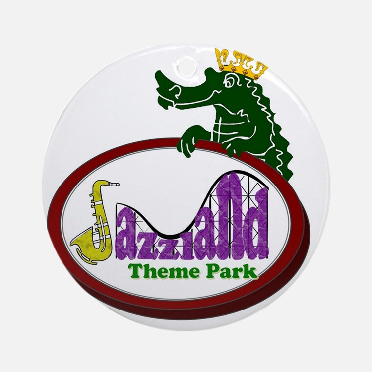 logo_back Round Ornament