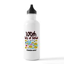100th Day of school St Water Bottle