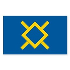 Northern Cheyenne Flag Rectangle Bumper Stickers
