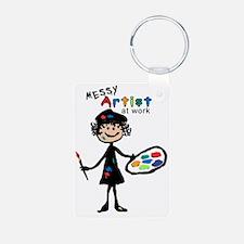 Messy Artist At Work Keychains