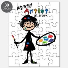 Messy Artist At Work Puzzle