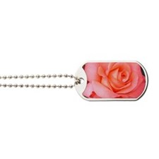 AFP 015a Rose coral clsup Dog Tags