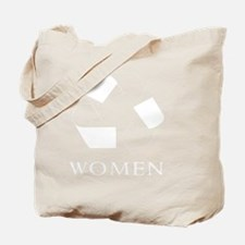 Recycle women white Tote Bag
